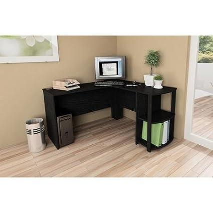 amazon com l shaped desk with side storage black ebony ash rh amazon com walmart l shaped desk with side storage ameriwood l-shaped office desk with side storage multiple finishes