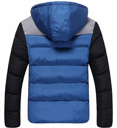 Cappuccio Inverno Atletica Pelliccia Cappotto Blu Addensare Eku Piumini Caldo Ci Di Xl Mens 6xRfqnO