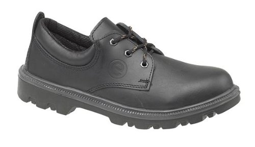 Centek FS133 Herren Safety Lace Up Schuhe Shoe Schuh, Stahlkappe, Leder, Schwarz