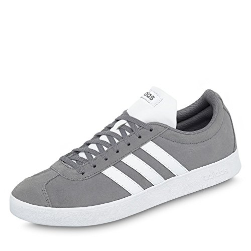 Shoe Grey Sport Fashion adidas 2 Trainer White 0 VL Mens Court z8qOH