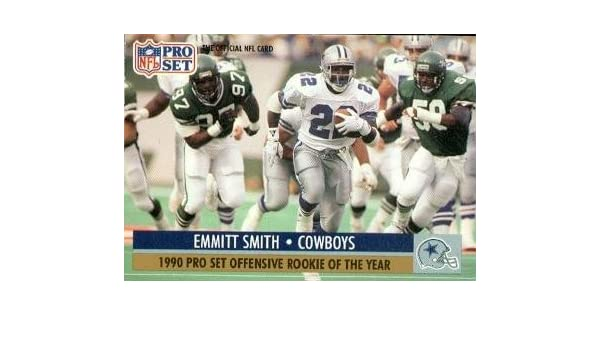 Amazon.com  Emmitt Smith Football Card (Dallas Cowboys) 1991 Pro Set Rookie  of The Year  1  Collectibles   Fine Art 2690d0a0b