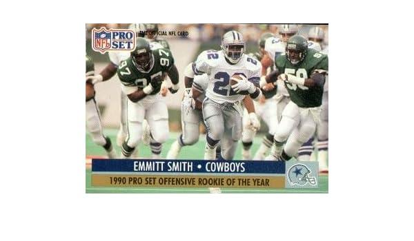 Amazoncom Emmitt Smith Football Card Dallas Cowboys 1991