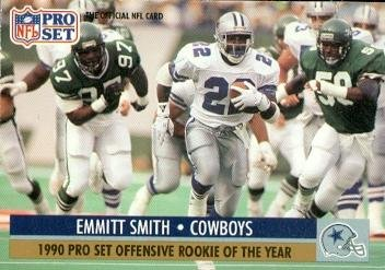Emmitt Smith Football Card (Dallas Cowboys) 1991 Pro Set Rookie of The Year ()