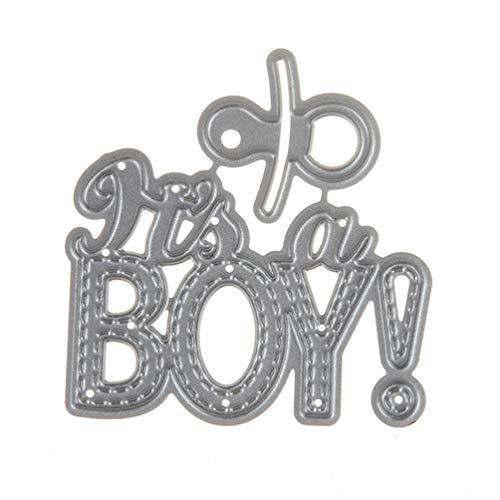(TOOGOO DIY Baby Boy Metal Steel Cutting Dies Embossing Craft Dies 3D Scrapbooking Stamp Handmade Card Making Photo)