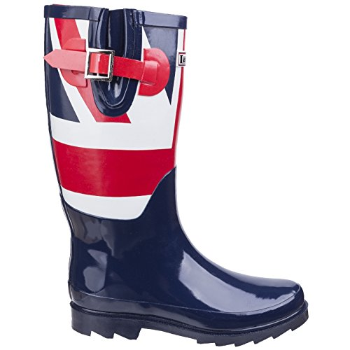 Lambretta Wellington Boots Adults Red Phoenix Union Jack Unisex Blue White 5rWXpwYqrn