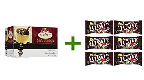 Folgers Gourmet Selections Medium K-Cup 12 ct(2 PACK),M&M MILK CHOCOLATE 6/1.69oz (Folgers K Cups Breakfast Blend compare prices)