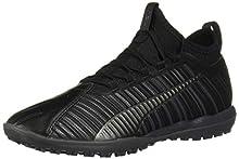 PUMA Men's ONE 5.3 TT Sneaker, Black Aged Silver, 6 M US