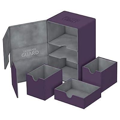 Ultimate Guard Twin Flip N Tray Deck Case 160+ Standard Size XenoSkin Purple: Toys & Games