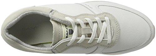 White Bright Blanc Baskets Linda Femme Gant 664 XR1Px