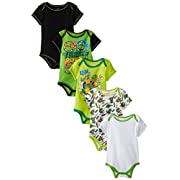 Nickelodeon Baby Baby-Boys Infant Newborn TMNT 5 Pack Creeper, Green, 6-9 Months