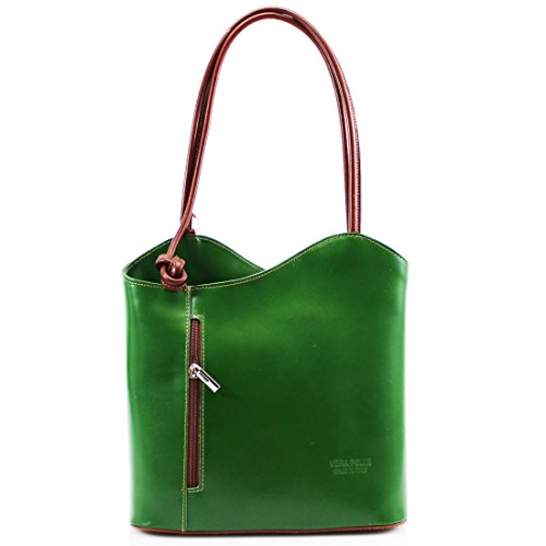 Linen Women Ladies Green Bag Pelle Clutch Shoulder Galaxy VP024 Vera Tan Girls Leather Backpack Bag Hand Convertible Tote rrBazw5q