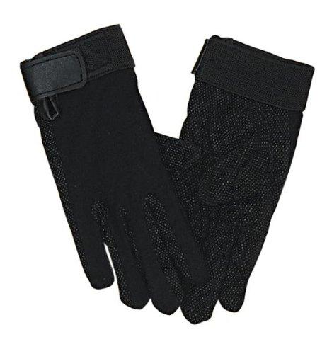 Perri's Child Cotton Gloves, Black, (Childrens Riding Gloves)