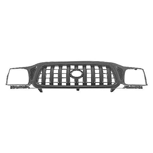 2002 Toyota Tacoma Grille - New Front Grille For 2001-2004 Toyota Tacoma Matte Black TO1200250 5310004250C0