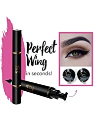 Original Eyeliner Stamp by LA PURE (2 Pens) - 2 double-sided pens, winged liquid eyeliner stamp & pencil, Vamp style wing, smudgeproof, waterproof, long-lasting, No Dripping (10mm Original)