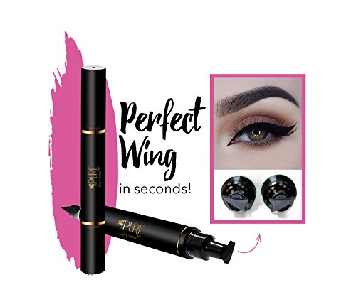 (Original Eyeliner Stamp by LA PURE (2 Pens) - 2 double-sided pens, winged liquid eyeliner stamp & pencil, Vamp style wing, smudgeproof, waterproof, long-lasting, No Dripping (10mm Original))