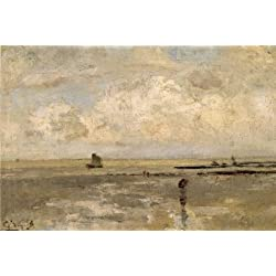 The High Quality Polyster Canvas Of Oil Painting 'Guillaume Vogels - Beach,19th Century' ,size: 30x45 Inch / 76x114 Cm ,this High Resolution Art Decorative Prints On Canvas Is Fit For Nursery Gallery Art And Home Decoration And Gifts