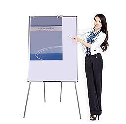 VIZ-PRO Light Magnetic Four Legs Stand Whiteboard/Flipchart Easel,48\