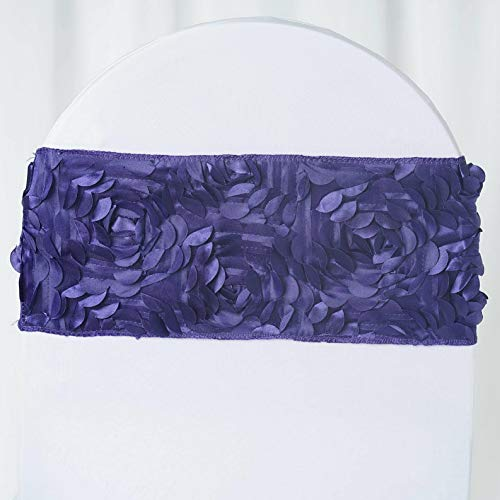 (Mikash Satin Rosettes Stretchable Spandex Banquet Chair Sashes Wedding Decorations Sale | Model WDDNGDCRTN - 4250 | 100 pcs)