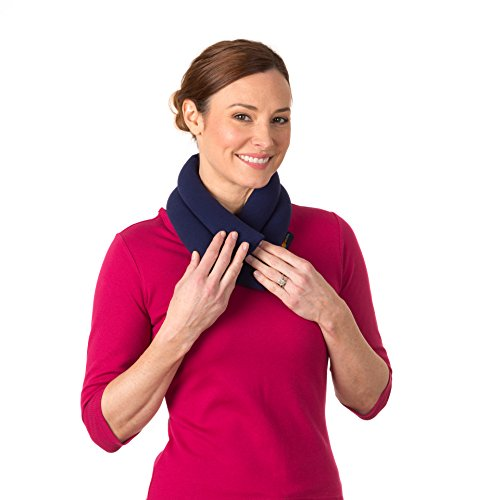 Sunny Bay Extra Long Heated Neck Wrap, Blue, 2.8 Pound (Microwaveable Neck)