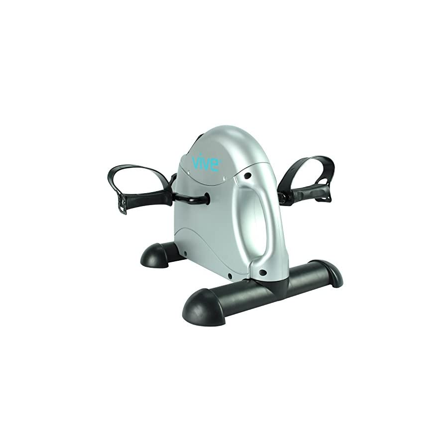 Pedal Exerciser by Vive Portable Medical Exercise Peddler Low Impact, Small Exercise Bike for Under Your Office Desk Designed for Either Hands or Feet