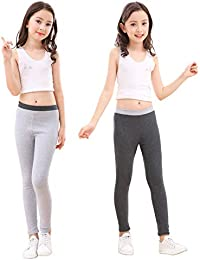 863171d9f Cotton Ankle Length Girls Leggings Stretchy Kids Pants 3-12y
