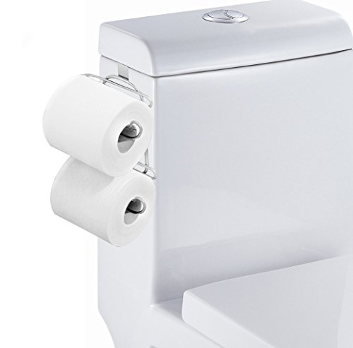 2 Roll Toilet Paper - ESYLIFE Over The Tank 2 Roll Toilet Bath Tissue Holder,Chrome Finish