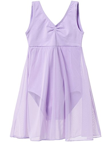 - Girls' Empire Tank Leotard Dress (2-4 / Toddler, Purple)