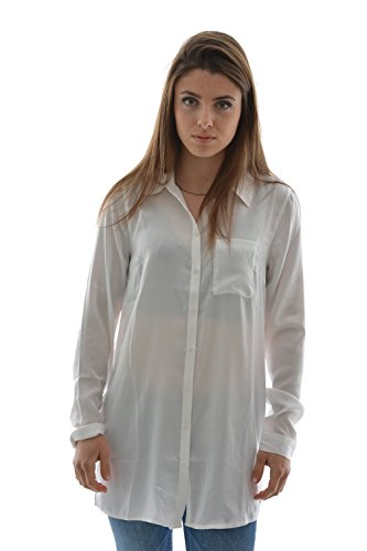 chemisier tom tailor 2029683 uni blouse,1/1 blanc