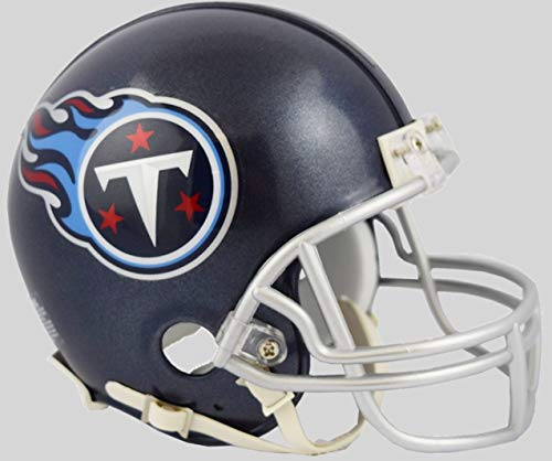 Tennessee Titans Riddell Mini Football Helmet - 2018 Logo and Colors - New in Riddell Box ()