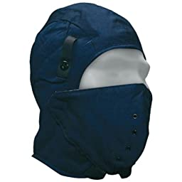 Bob Dale 90-0-410 Quilted Cotton Hard Hat Liner with Breathable Facemask, Size 1, Navy Blue
