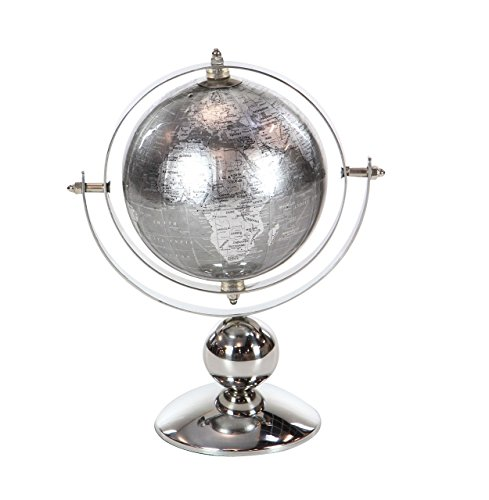 Deco 79 43490 Stainless Steel and PVC Decorative Globe, 10