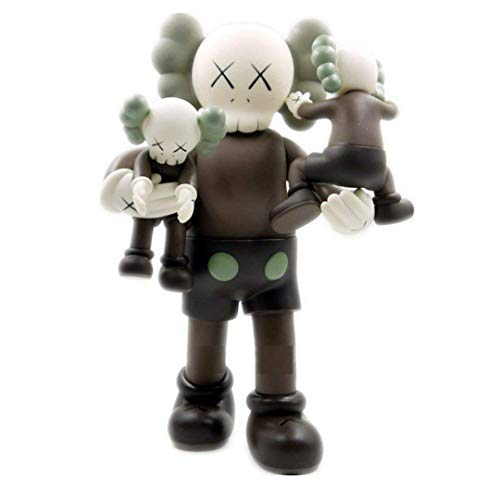 YUANC KAWS with Kids Dissected Companion Original Fake Art Toys Action Figure Figurine Plush Doll Toy Model Statue Accessories Collection Morden Gift 16 inch (Brown)