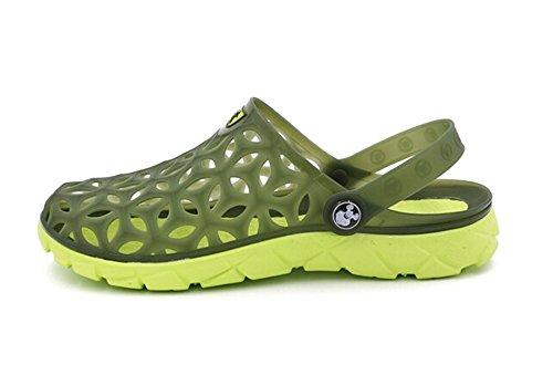 Fansela(TM) Unisex Couples Nest Jelly TPU Sandals Shoes mDark Blue Size 10 by Fansela (Image #2)