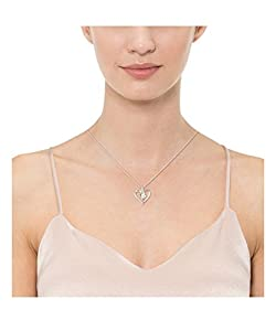 Sterling Silver with White Diamond Heart Pendant Necklace (1/4cttw, I-J Color, I2-I3 Clarity), 18""