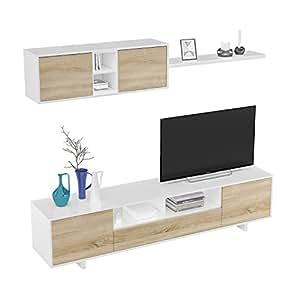 Habitdesign 1F6682BO - Mueble de salón Moderno, modulos ...
