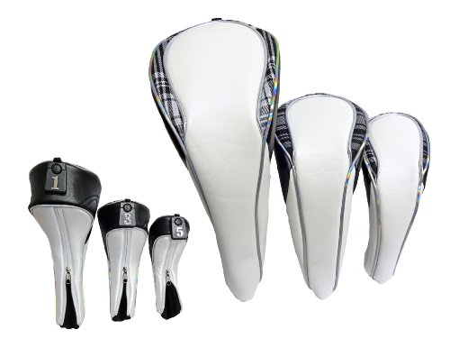 Set Piece 3 Headcover (Precise Deluxe Set of Headcovers (3 pieces-Driver, Fairway, Hybrid, Black))