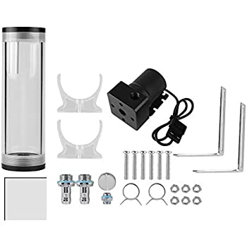 Cylinder Water Tank 50mm Diameter Computer Water Cooling Tank Pump 800L/H CPU High Speed Liquid Cooling System (160mm)