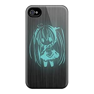 Iphone 4/4s BpL15480CNUa Allow Personal Design Colorful Hatsune Miku Skin Durable Hard Phone Cases -no1cases