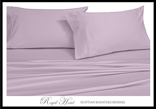 Solid Lilac Twin Size Sheets, 3PC Bed Sheet Set, 100% Cot...