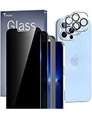 TOCOL 4 Pack Compatible with iPhone 13 Pro Max 5G 6.7 inch - 2Pcs Privacy Tempered Glass Screen Protector + 2Pcs Camera Lens Protector with Alignment Frame Bubble Free Case Friendly - [No. i21PM]