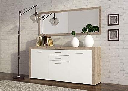 Credenza Per Cucina Bianca : Mobelcenter 0775 credenza kansas bianca: amazon.it: casa e cucina
