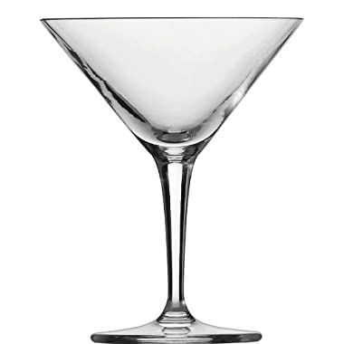 Schott Zwiesel Basic Bar Designed by World Renowned Mixologist Charles Schumann Tritan Crystal Traditional Martini Cocktail Glass, 6.1-Ounce, Set of 6