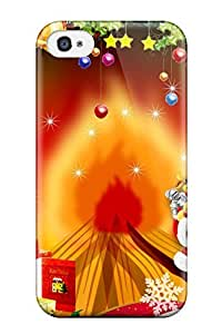 lintao diy ClaudiaDay Design High Quality Merry Christmas And Happy New Year Cover Case With Excellent Style For Iphone 4/4s