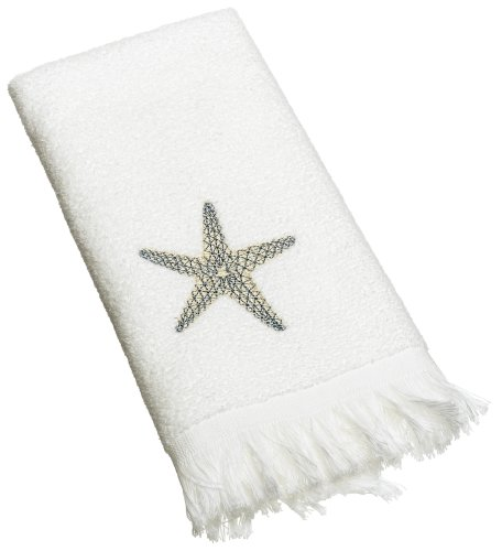 Avanti Linens By The Sea Fingertip Towel, White ()