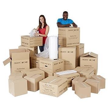 1 - 2 - 20 de almacenamiento y Cama Kit para mover - Casa eliminación cajas de cartón y artículos. - ref amk030: Amazon.es: Oficina y papelería