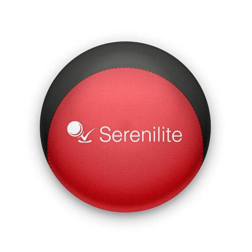 Serenilite Relax Dual Colored Hand Therapy Stress Ball - Optimal Stress Relief - Great for Hand Exercises and Strengthening (Jet Black/Red)
