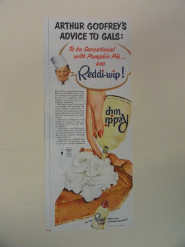 reddi-wip-1950-print-advertisement-arthur-godfreys-advice-to-gals-original-vintage-magazine-print-ar