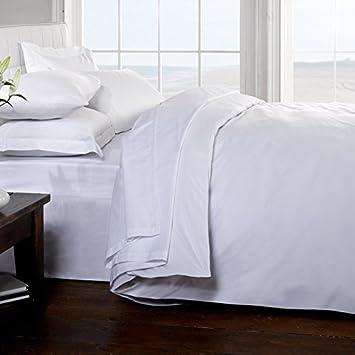 Classic Linens 100% algodón egipcio de 200 hilos sábana, blanco, para cama de matrimonio: Amazon.es: Bricolaje y herramientas