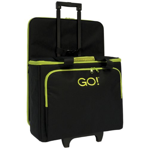 AccuQuilt GO! Multi-Purpose Rolling Tote with Die Bag in Black by AccuQuilt