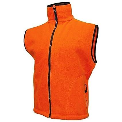 aff9dcc056c60 Image Unavailable. Image not available for. Color: WORLD FAMOUS Blaze  Orange Fleece Vest ...